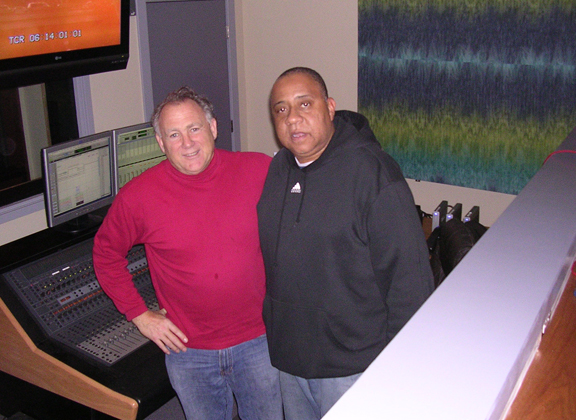 Michael Barnard with actor Barry Shabaka Henly