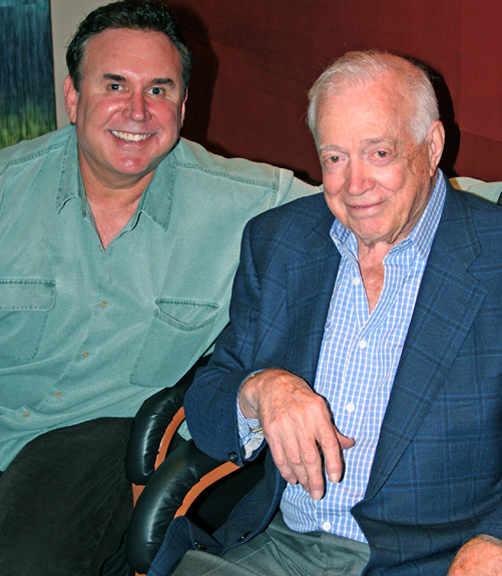 Hugh Downs with Steve Dworman
